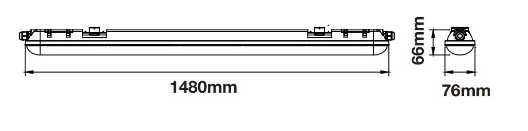 V-TAC 6284 6286 TUBO LED PLAFONIERA 36W LAMPADINA 120CM 150CM ESTERNO IP65 BIANC